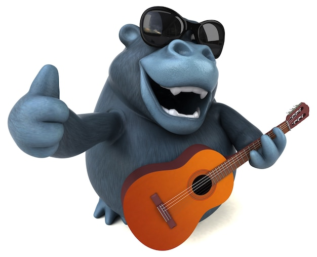 Zabawny goryl - ilustracja 3d