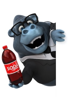 Zabawny goryl - postać 3d