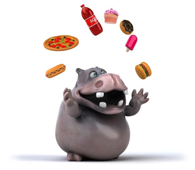 Zabawny hipopotam
