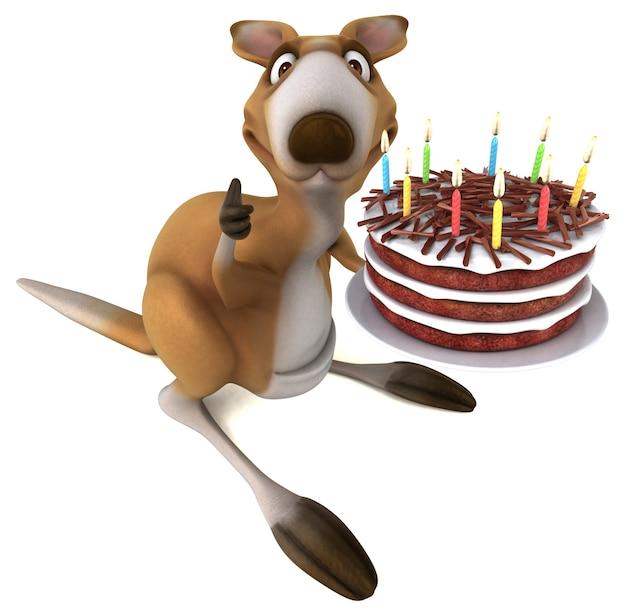 Zabawny kangur - ilustracja 3d
