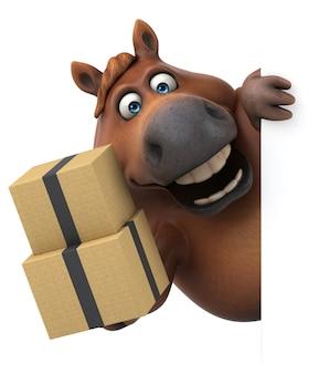 Zabawny koń - ilustracja 3d