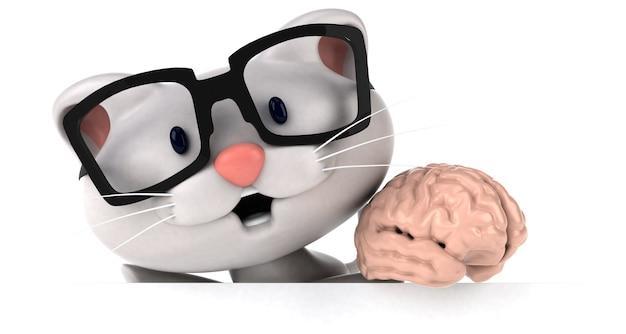 Zabawny kot - ilustracja 3d