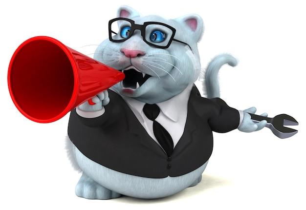 Zabawny kot - postać 3d