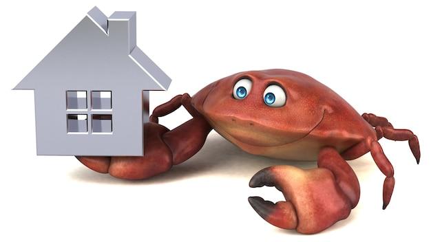 Zabawny krab - ilustracja 3d