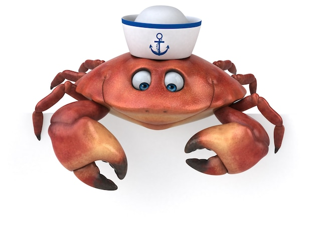 Zabawny krab - postać 3d