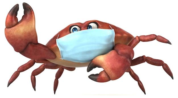 Zabawny krab z maską