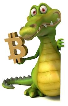 Zabawny krokodyl - ilustracja 3d