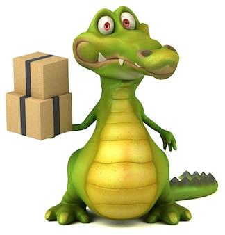 Zabawny krokodyl