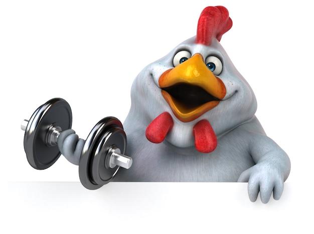 Zabawny kurczak - ilustracja 3d