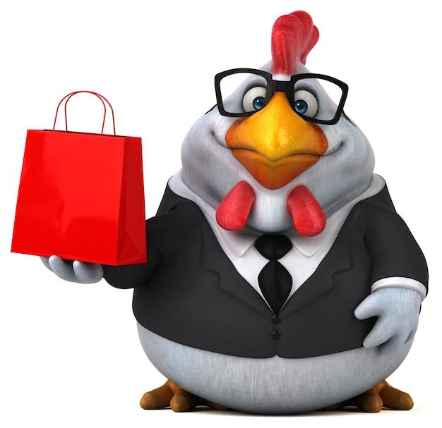 Zabawny kurczak - postać 3d