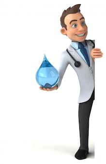Zabawny lekarz - postać 3d