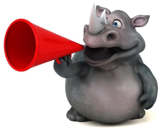 Zabawny nosorożec - ilustracja 3d