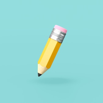 Zabawny ołówek na niebieskim tle