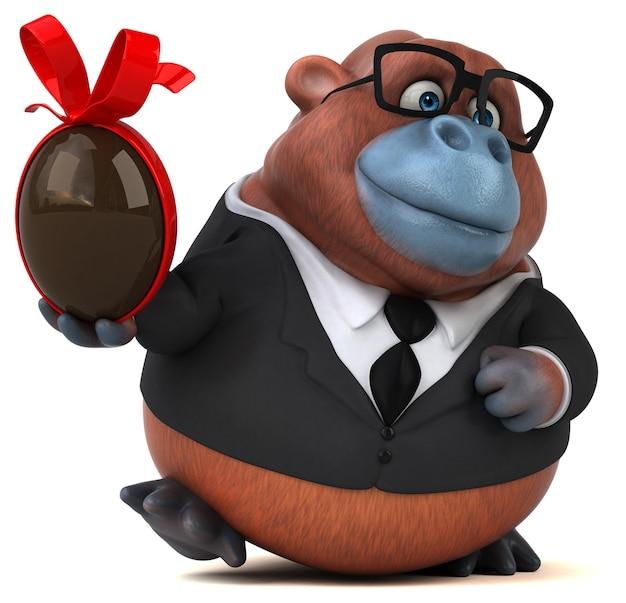 Zabawny orang outan - ilustracja 3d
