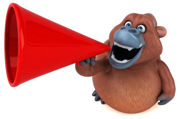 Zabawny orangutan - ilustracja 3d