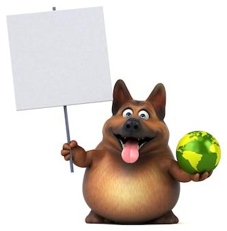 Zabawny owczarek niemiecki - ilustracja 3d