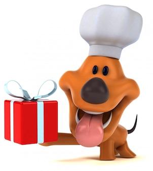 Zabawny pies - 3d ilustracji