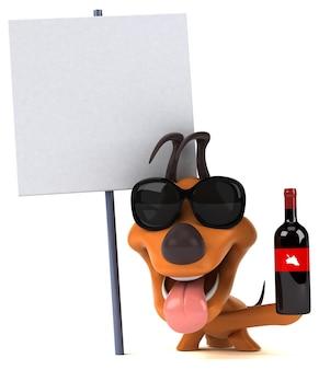 Zabawny pies ilustracja 3d