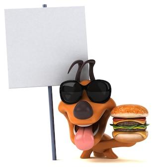 Zabawny pies - ilustracja 3d