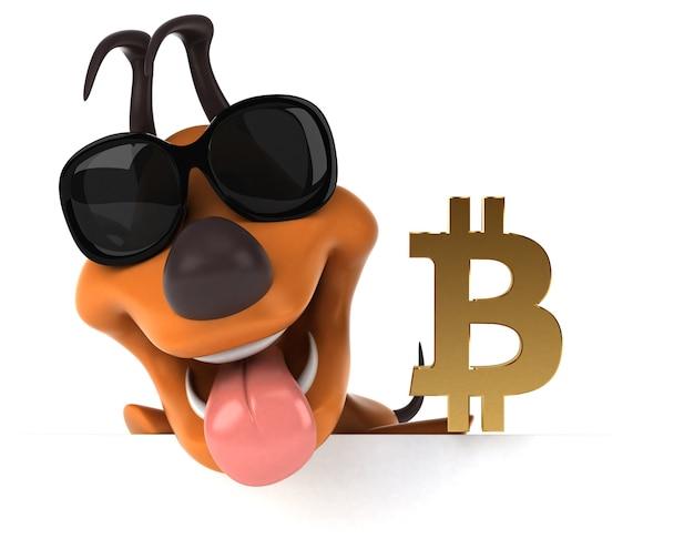 Zabawny pies ilustracja
