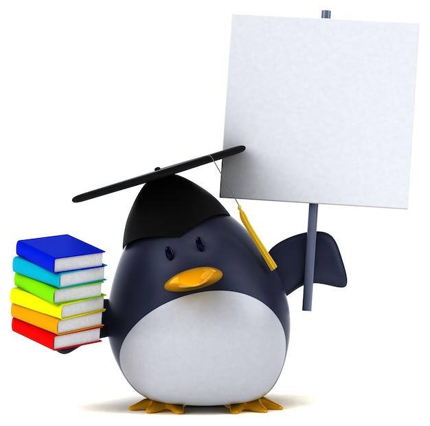 Zabawny pingwin - postać 3d