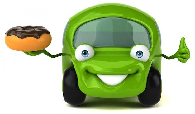 Zabawny samochód - ilustracja 3d