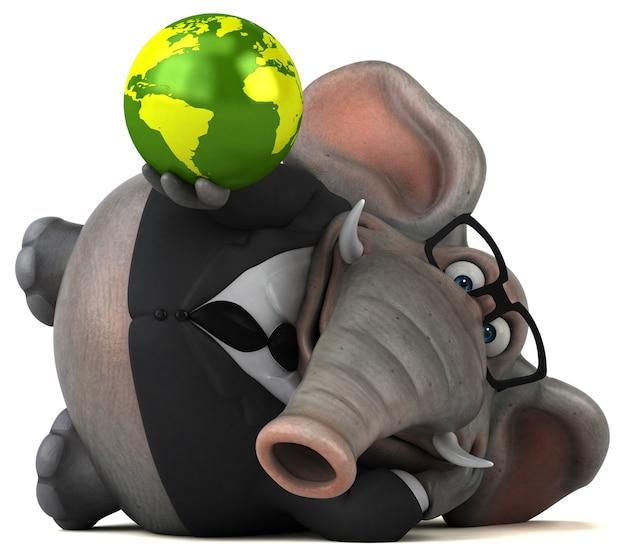 Zabawny słoń - ilustracja 3d