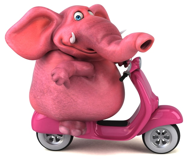 Zabawny słoń - postać 3d