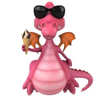 Zabawny smok - postać 3d