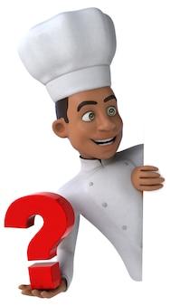 Zabawny szef kuchni - postać 3d