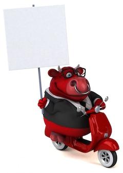 Zabawy czerwona byka 3d ilustracja