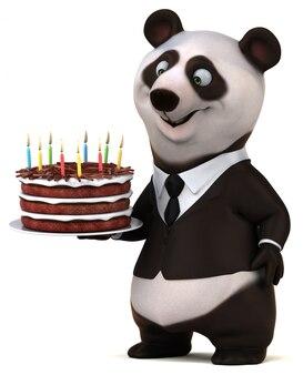 Zabawy panda - 3d ilustracja