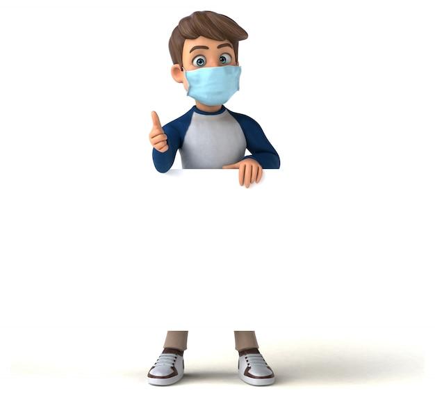 Zabawy postać z kreskówki dziecko z maską