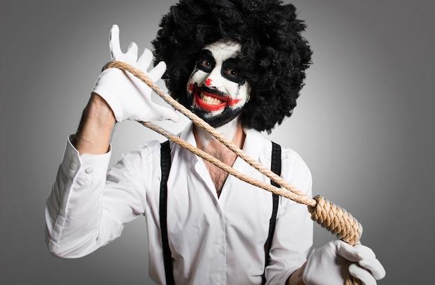 Zabójczy klaun z slipknot na textured tle