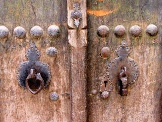 Zabytkowego drzwi, kashan, iran