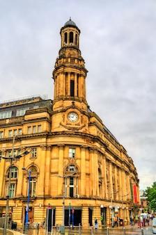 Zabytkowy budynek royal exchange w manchesterze, północno-zachodnia anglia
