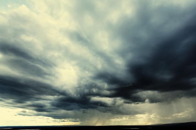 Zachód słońca chmury