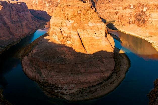 Zachód słońca nad horseshoe bend w arizonie?