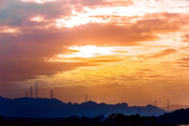Zachód słońca nad wisłą, włocławek, polska