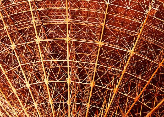 Zachód słońca przemysłowa konstrukcja stalowa tło