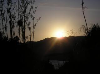Zachód słońca sardynii