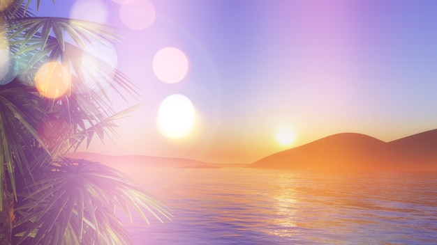 Zachód słońca w caribe