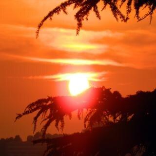 Zachód słońca w shimla indiach