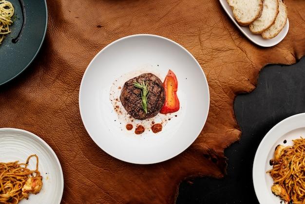 Zachodnie przepisy kulinarne płaskie lay