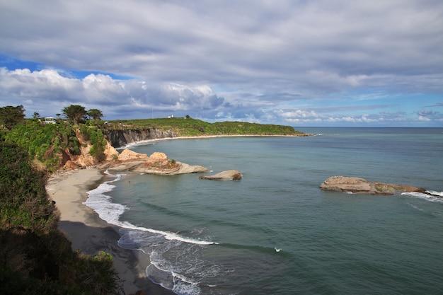 Zachodnie wybrzeże na południowej wyspie w nowej zelandii