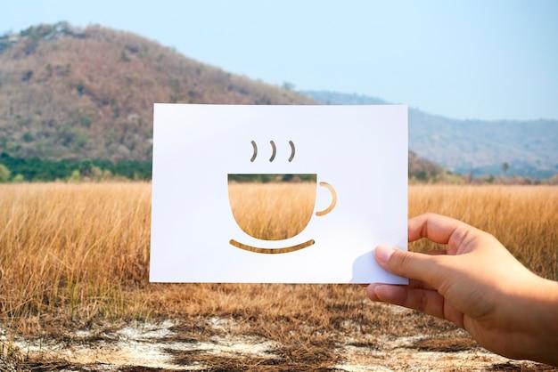 Zaczynając od nowego dnia z papierem perforowanym z kawą