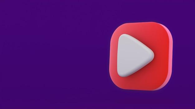 Zagraj w czerwony symbol kształtu ikony