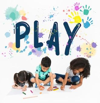 Zagraj w kolory blots ręce słowo