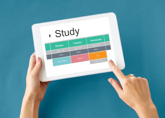 Zajęcia w klasie studium szkolne harmonogram akademicki