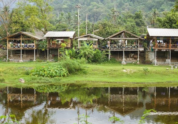 Zakaz khiri wong wioska w nakhon si thammarat, tajlandia